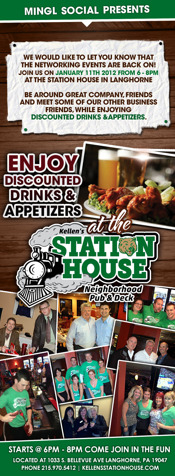 Mingl Social Happy Hour at Kellen's Station House